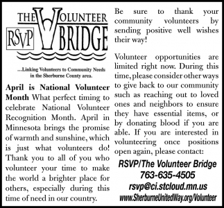 April is Nation Volunteer Month