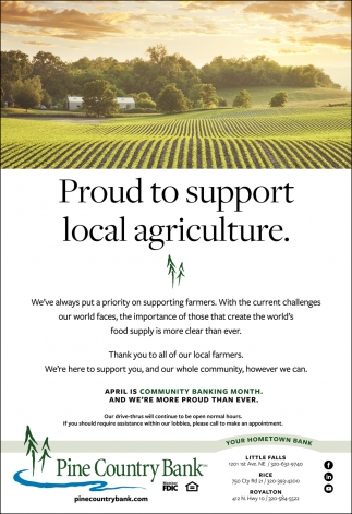 Proud to Support Local Agriculture