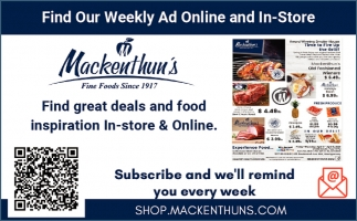 Find Our Weekly Ad Online and In-Store