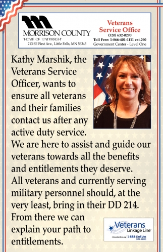 We are Here to Assist and Guide Our Veterans Towards All the Benefits and Entitlements They Deserve