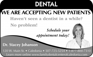 We are Accepting New Patients