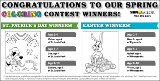 Congratulations to Our Spring Coloring Contest Winners!