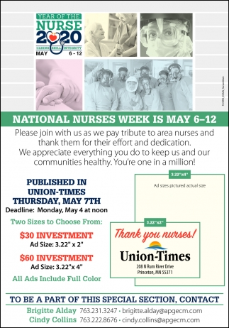 National Nurses Week is May 6-12