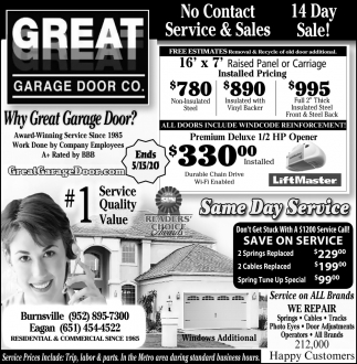 Why Great Garage Door?