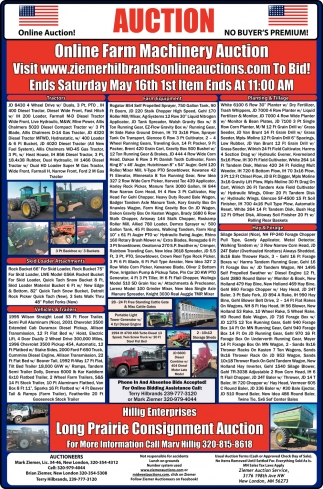 Online Only Farm Machinery Auction