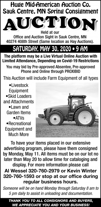 MN Spring Consignment Auction