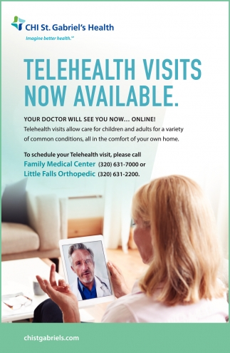 Telehealth Visits Now Available