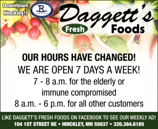 Our Hours Have Changed!