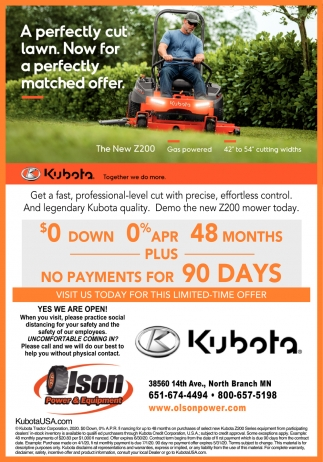 A Perfectly Cut Lawn. Now for a Perfecly Matched Offer