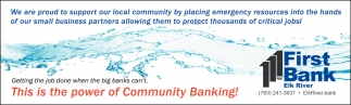This is the Power of Community Banking!