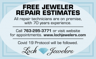 FREE Jewelers Repair Estimates