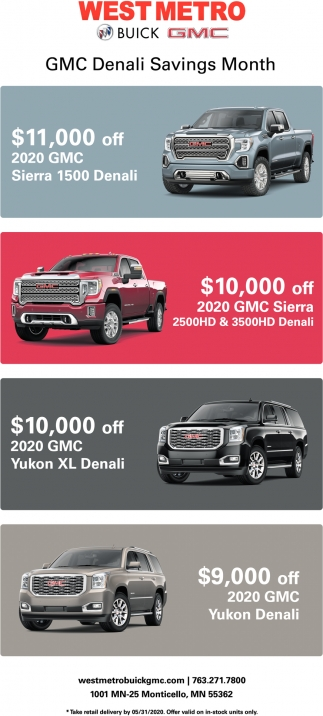 GMC Denali Savings Month