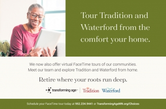 Tour Tradition and Waterford from the Comfort Your Home