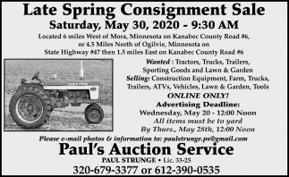 Late Spring Consignment Sale