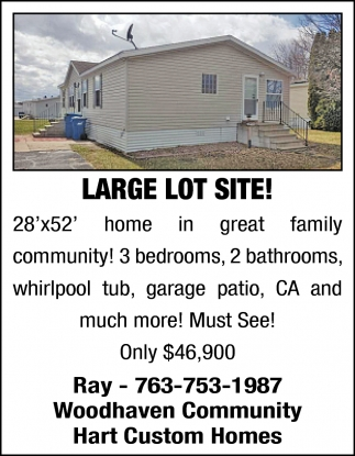Large Lot Site!
