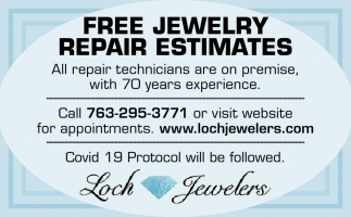 FREE Jewelry Repair Estimates