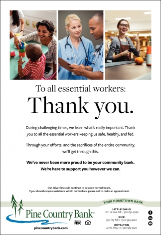 To All Essential Workers: Thank You
