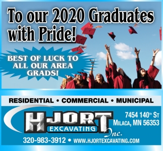 To Our 2020 Graduates with Pride!