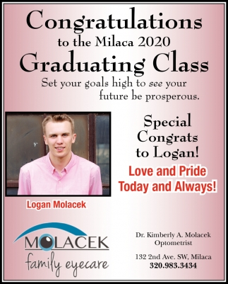 Congratulations to the Milaca 2020 Graduating Class