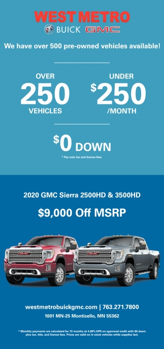 We Have Over 500 Pre-Owned Vehicles Available!