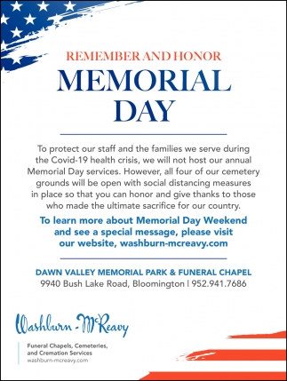 Remember and Honor Memorial Day