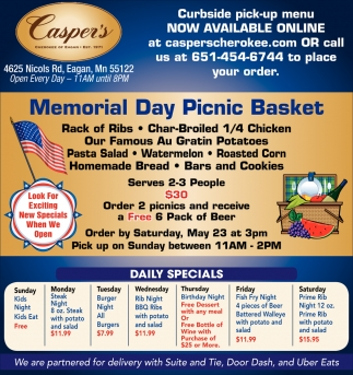 Memorial Day Picnic Basket