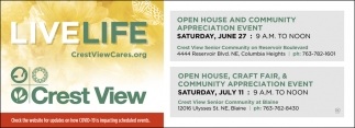 Open House and Community Appreciation Event