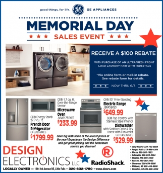 Memorial Day Sales Event