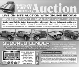 Live On-Site Auction with Online Bidding