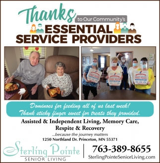 Thanks to Our Community's Essential Service Providers
