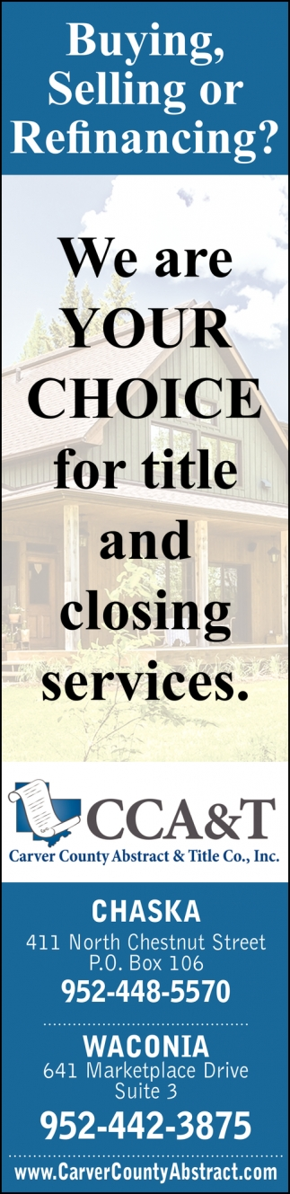 We are Your Choice for Title and Closing Services