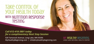 Take Control of Your Health Today with Nutrition Response Testing