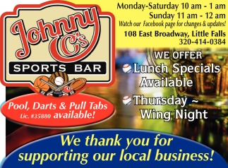 We Thank You for Supporting Our Local Business!