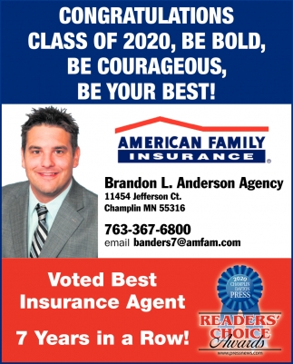 Voted Best Insurance Agent 7 Years in a Row!