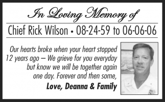 In Loving Memory of Chief Rick Wilson