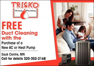 FREE Duct Cleaning with the Purchase of a New AC or Heat Pump