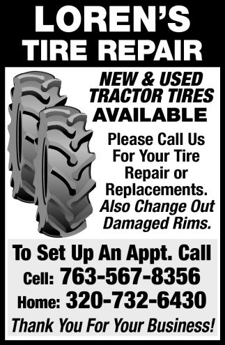 New & Used Tractor Tires Available