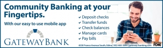 Community Banking at Your Fingertips