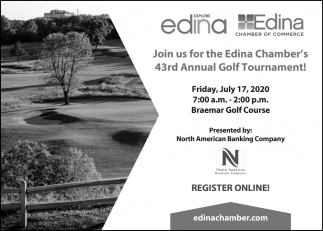 Join Us for the Edina Chamber's 43rd Annual Golf Tournament