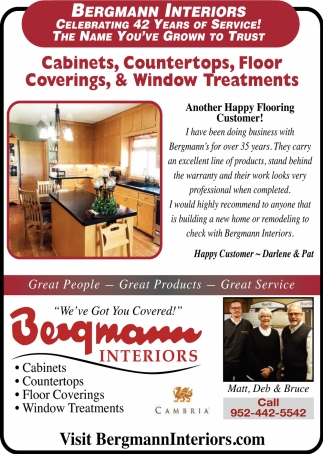 Cabinets, Countertops, Floor Coverings & Window Treatments