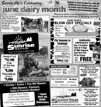 Sunrise Ag is Celebrating June Dairy Month