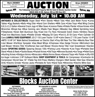 Auction Saturday, June 27th