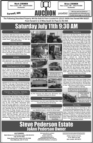 Auction Saturday July 11th