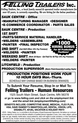 Various Job Openings