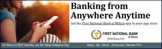 Banking from Anywhere Anytime