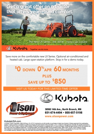 Get a Great Offer On a Tractor that Offers Year-Round Comfort
