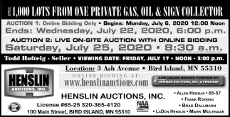 1.000 Lots from One Private Gas, Oil & Sign Collector