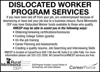 Dislocated Worker Program Services