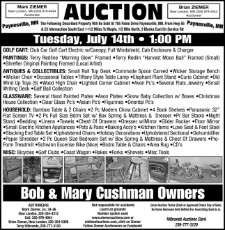 Auction Tuesday, July 14th