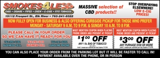 Massive Selection of CBD Products!